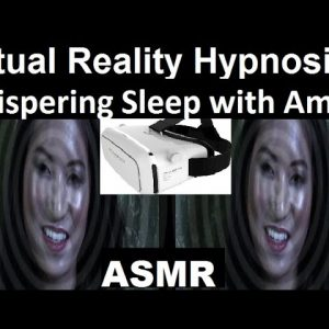 Virtual Reality ASMR - Whispering hypnosis for sleep with Amy #ASMR #3D #hypnosis #insomnia