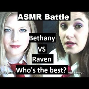 ASMR Battle! Bethany VS Raven - softly spoken hypnosis for sleep with 3D sound