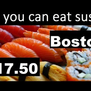 Sushi Buffet: All you can eat sushi for $17.50 Boston Copley Square #sushi #foodporn