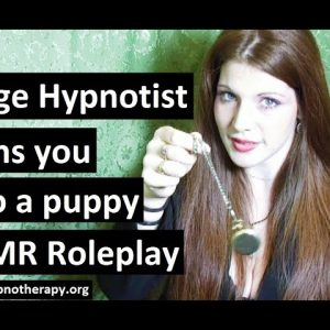 Warning: Female Stage Hypnotist turns you into her puppy - ASMR Hypnosis Roleplay