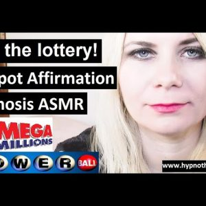 lottery jackpot winning affirmation - ASMR softly spoken - Self Hypnosis megamillions powerball 649