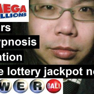 The secret method to win the lottery jackpot tonight! 8 hours law of attraction and self hypnosis
