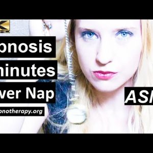 5 Minute power nap hypnosis with Hypnotist Lauren. ASMR Instant Relaxation. Feeling like superman!