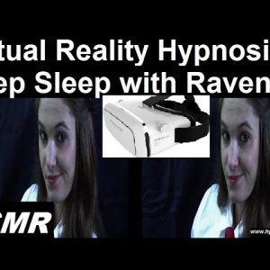 Virtual Reality hypnosis for very deep sleep with Raven #ASMR #3D #hypnosis #insomnia