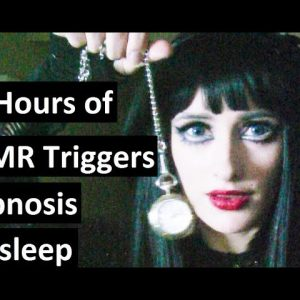 10 hours of ASMR triggers! Hypnosis for sleep with Angela Gray; Pocket watch induction