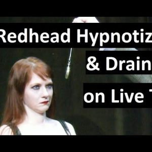 Redhead hypnotized on live TV -  hypnosis induction, pocket watch, fractionation &  sleep triggers