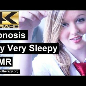 Hypnotist Melissa makes you sleepy, very sleepy. Hypnosis for Sleep ASMR 4K