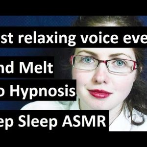 NEW! Mind melt into hypnosis. Softly spoken ASMR for sleep with Maggie. Insomnia cure!