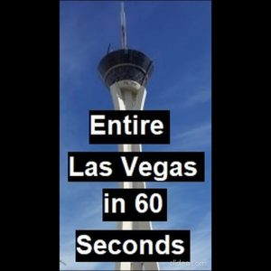 Entire Las Vegas in 1 minute #shorts (The Strat Hotel, Casino and SkyPo. Stratosphere Timelapse)