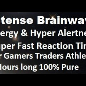 Intense brainwave for energy and hyper alertness, super fast reaction time for gamers & traders