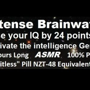 """Intense brainwave for super intelligence, raise your IQ by 24 points, guaranteed! """"limitless"""" pill"""