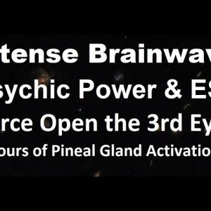 Intense brainwave for psychic power, ESP,  Opens 3rd eye, Telepathy, Clairvoyance, Astral traveling